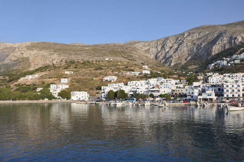 The port of Ormos Aegiali Amorgos