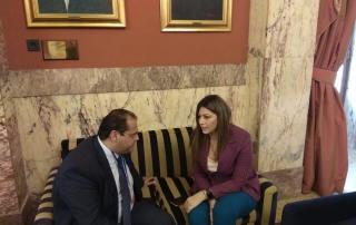 Συνάντηση Δημάρχου Αμοργού Λ. Καραΐσκου με την Υφυπουργό Παιδείας