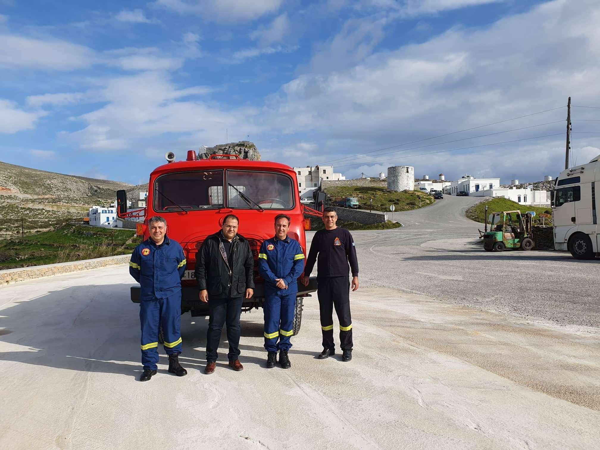 Παραλαβή πυροσβεστικού οχήματος